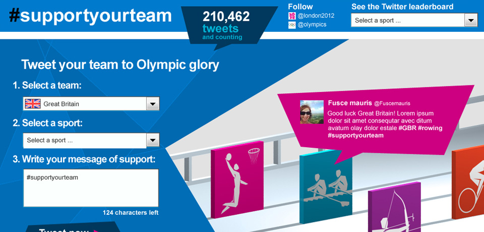 London 2012 Olympics, Support your Team